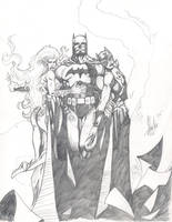 batman hush jim lee tribute by grantshorterart