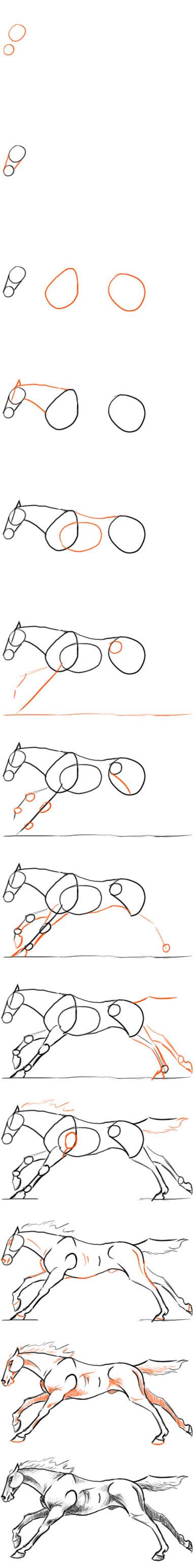 Galloping Horse Tutorial by AdmYrrek