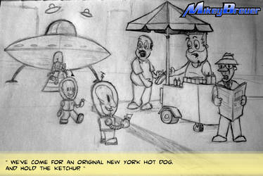 UFOs in New York by michabre