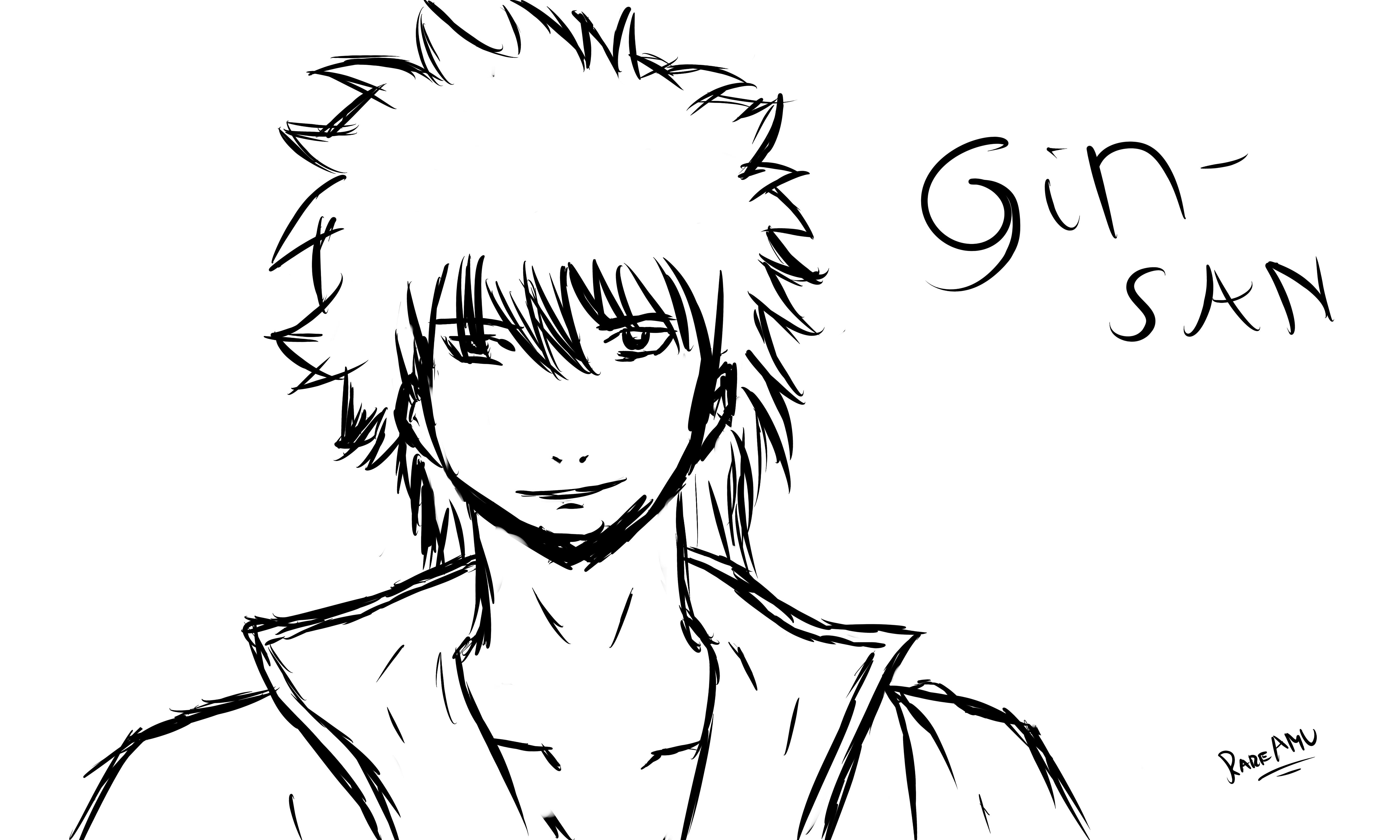 Gin-San's sketch by RareAMV