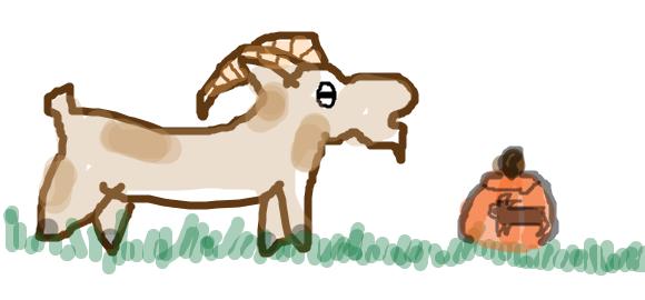 Terrible Goat 2 by Mirrankei