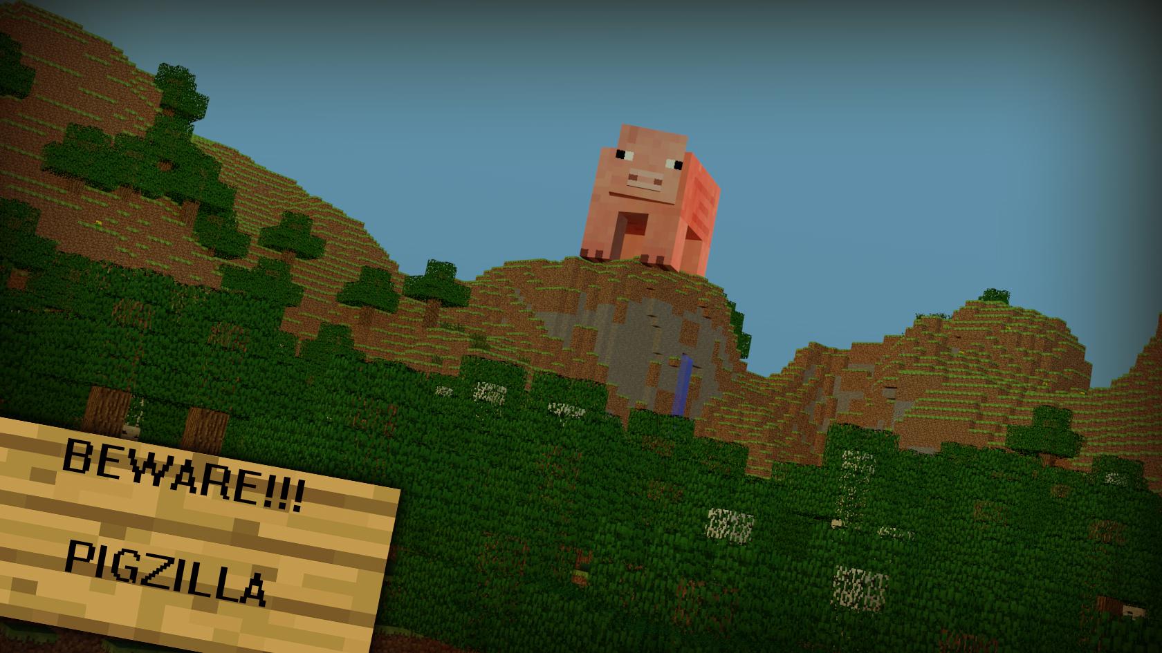minecraft wallpaper 1 pigzilla by rwwpl on deviantart