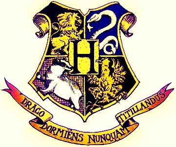 Colourful Hogwarts Logo by mockingJAY6012