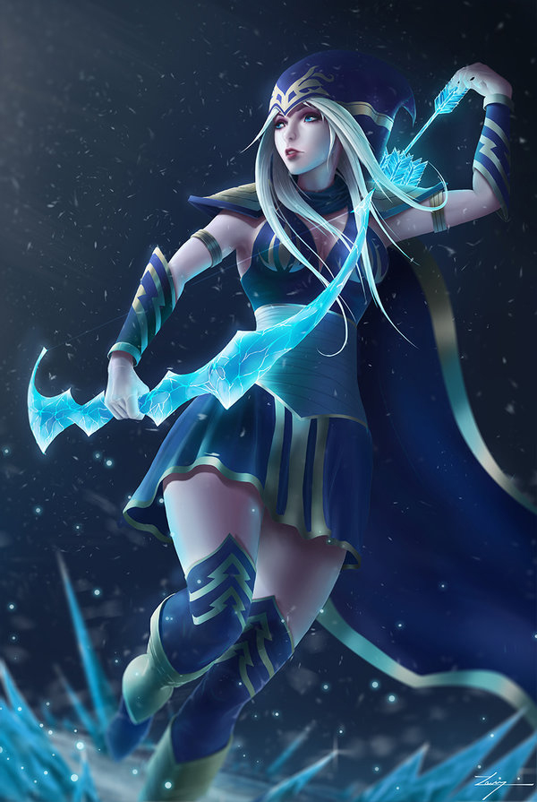 Ashe, the Frost Archer by Zarory on DeviantArt