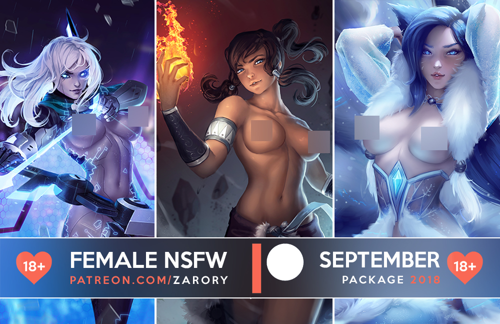 Female NSFW Previews - September Package by Zarory