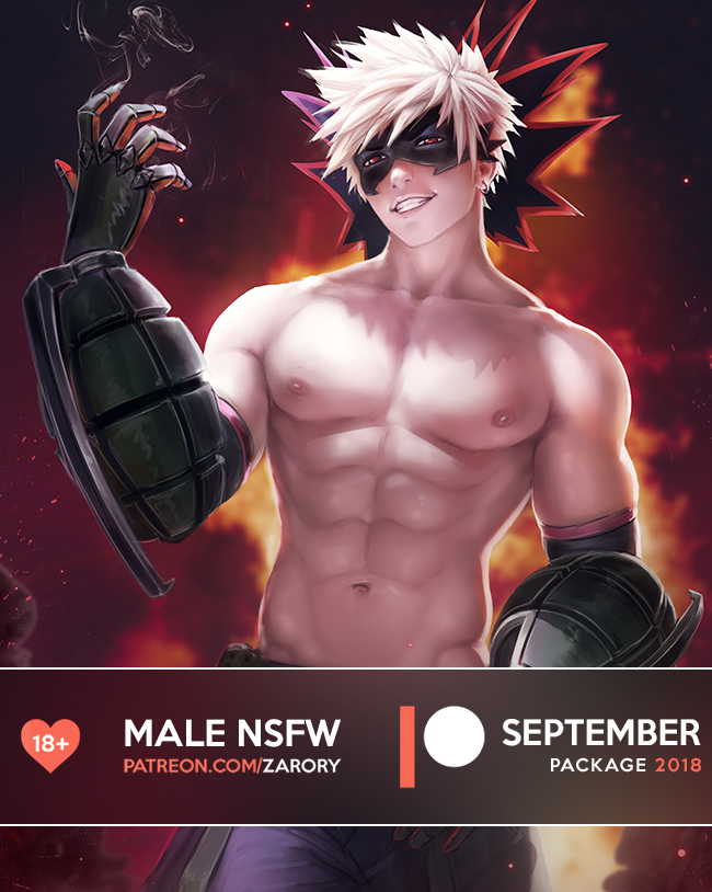Male NSFW Preview - September Package by Zarory
