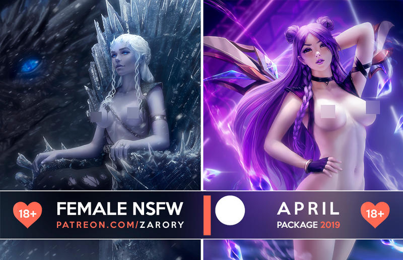 Female NSFW Previews - April Package by Zarory