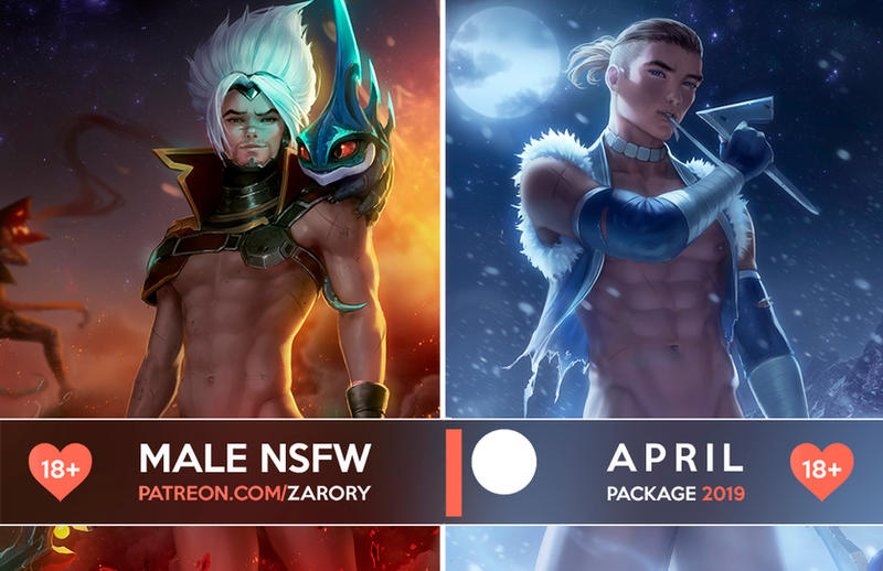 Male NSFW Previews - April Package by Zarory