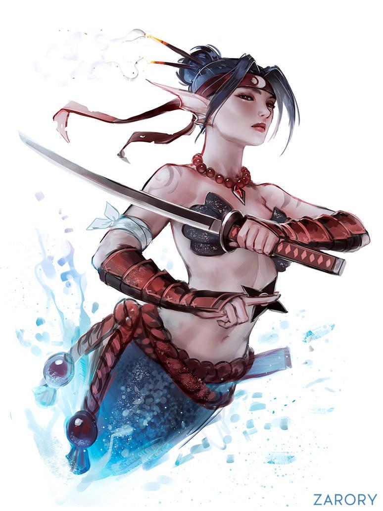 Ninja Mermaid by Zarory