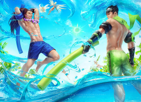 Pool Party Genji and Yasuo