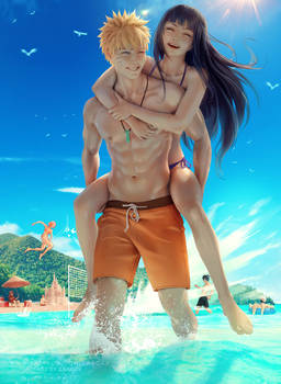 Beach Day Naruto and Hinata