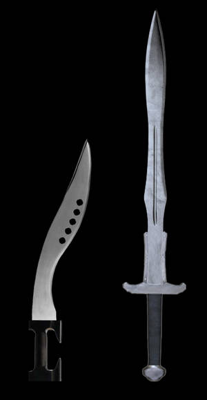 My Barbarian Sword and Falcata