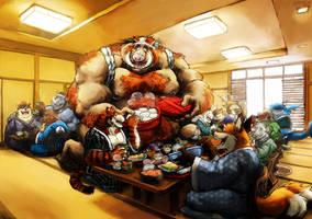 A Great Big Banquet by aokamidu