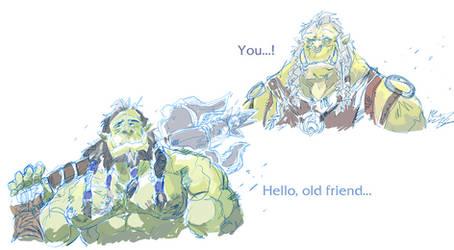 Two Orcs by aokamidu