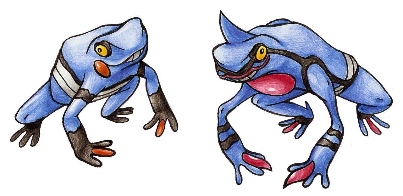 Realistic Croagunk + Toxicroak by FakeMakeT