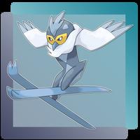 Avialanche, Ski Jumper Fakemon by FakeMakeT