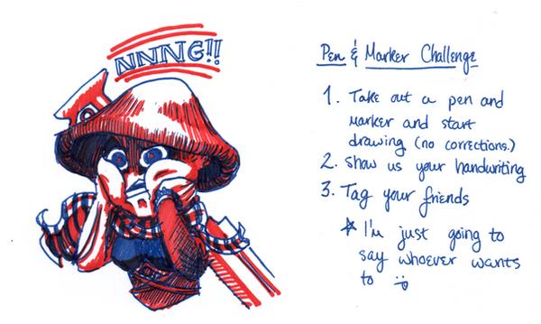 Pen + Marker Challenge by ScarySeregwen
