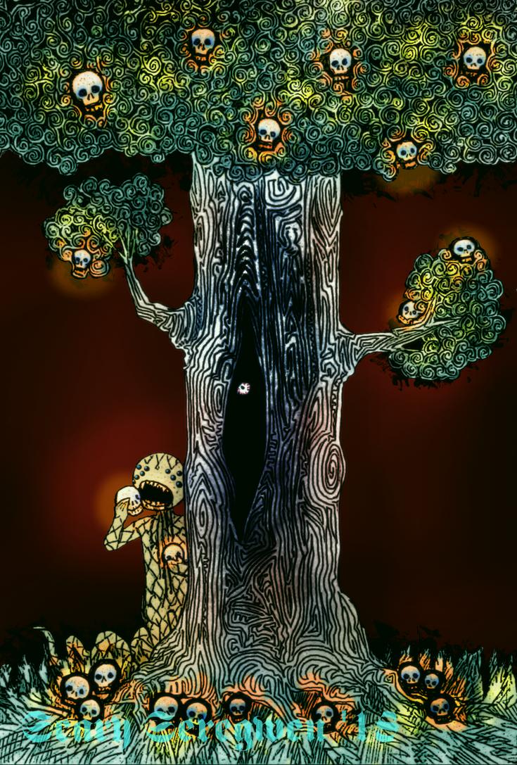 Night Light Tree by ScarySeregwen
