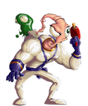 Earthworm Jim Sprite (KOF XIII style)