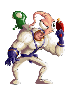 Earthworm Jim Sprite (KOF XIII style) by Nighteba