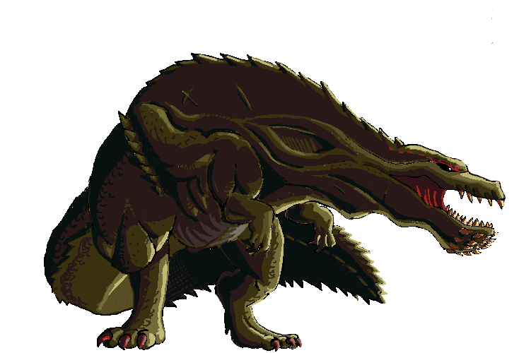 Deviljho sprite by nighteba on deviantart for Piscine wyvern