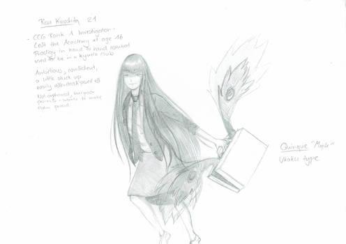 Risu Kinoshita - Sketch Sheet TG OC