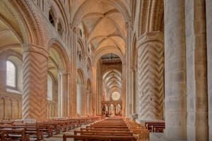 Durham Cathedral Nave by michael-d-beckwith