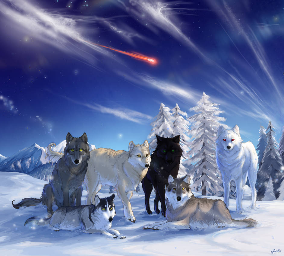 The Direwolves of Westeros by QuietLittleLeaf