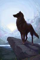 Brad's Wolf by QuietLittleLeaf