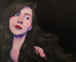 Acrylic Goddess Portrait by QuietLittleLeaf