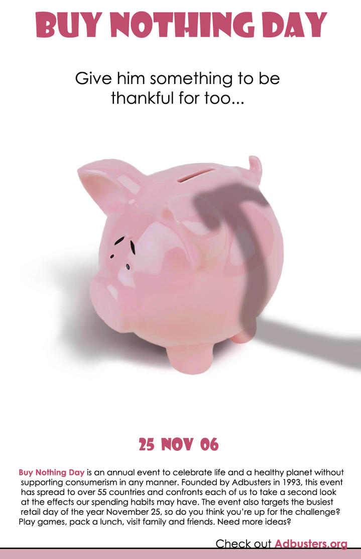 Buy nothing day poster by quietlittleleaf on deviantart for Buy cheap posters online