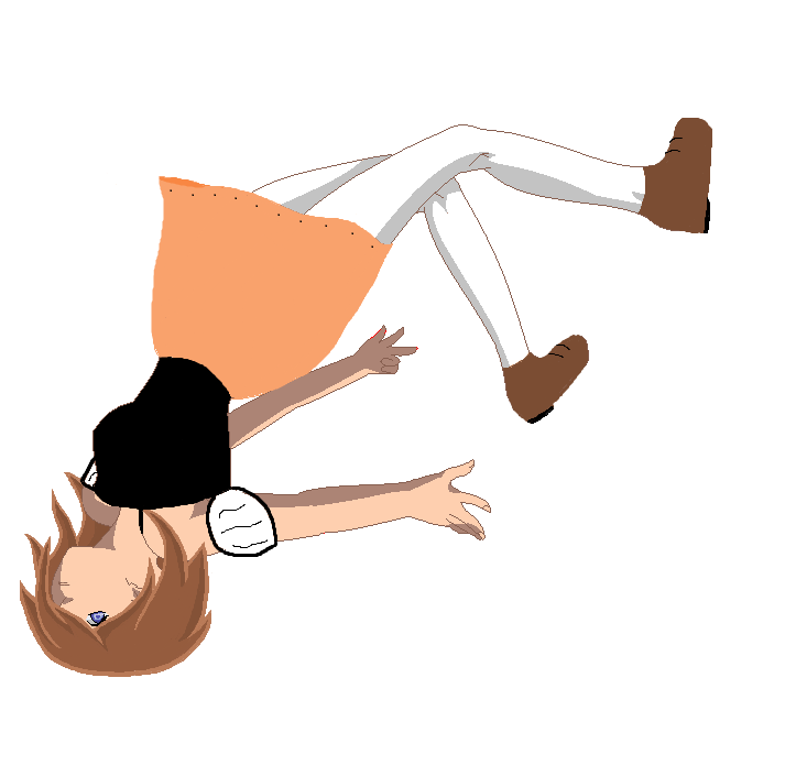 how to draw a boy fell over