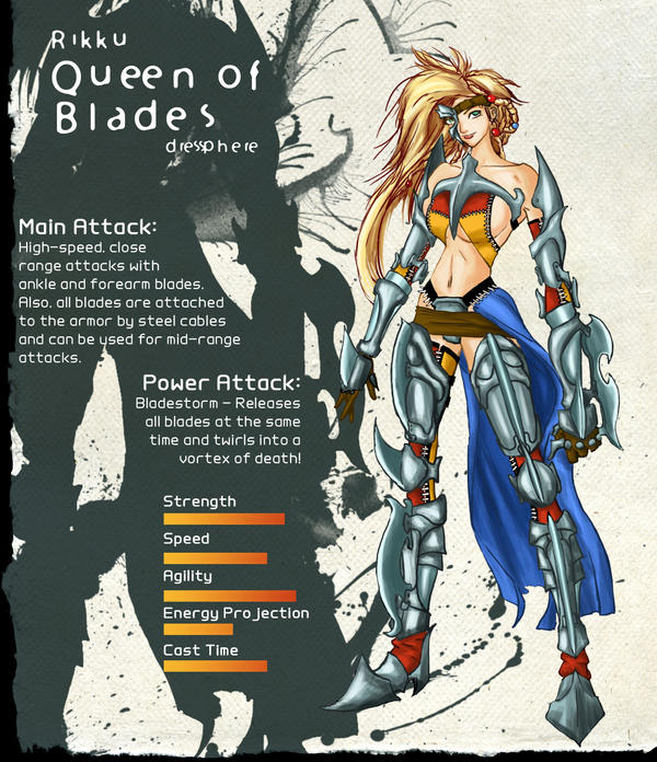 Rikku - Queen of Blades by Mbarok