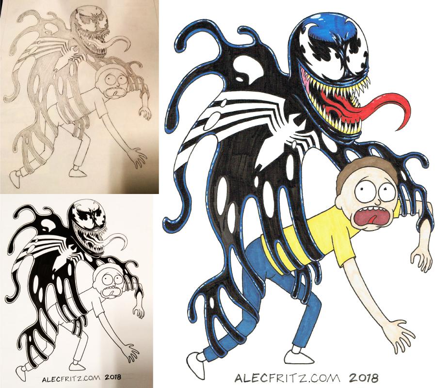 Venom meets Morty Process