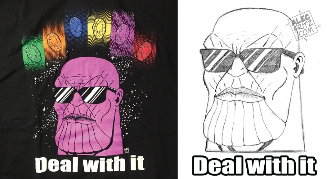Thanos Deal With It Shirt by AlecFritz
