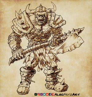 My take on a Warcraft Orc Warrior