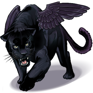 Winged Panther by Hituro