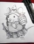 Inktober 2018: 20 Samurai Mouse