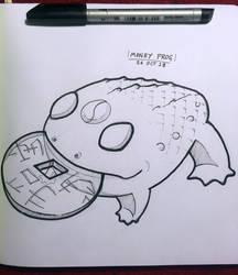 Inktober 2018: 25 Money Frog by Hituro