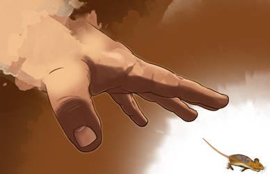 Reaching Hand by Hituro