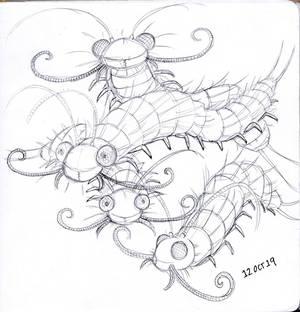 Inktober 2019 : 11 Centipedes