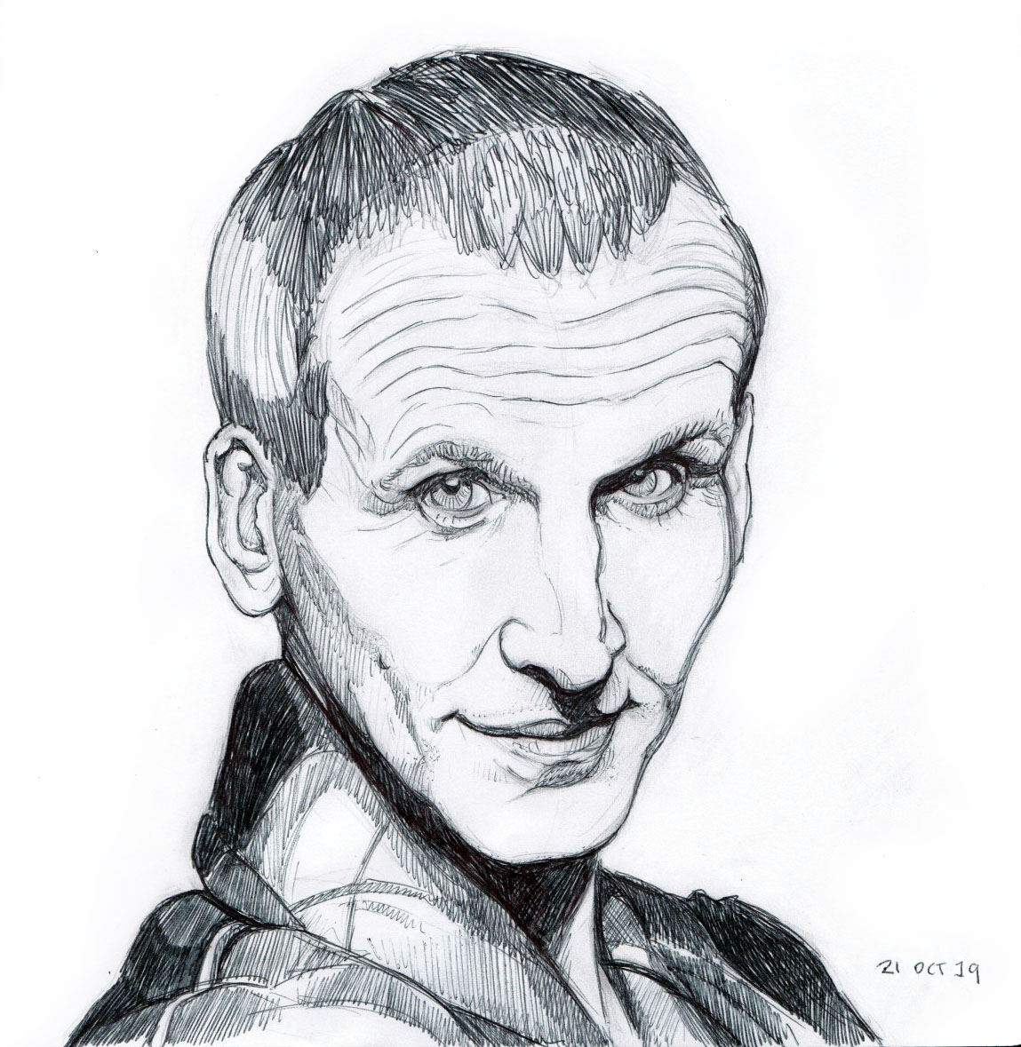 Inktober 2019 - 20 Dr Who (Christopher Eccleston)