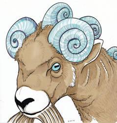 Inktober 2019 - Day 30, Ram of snails