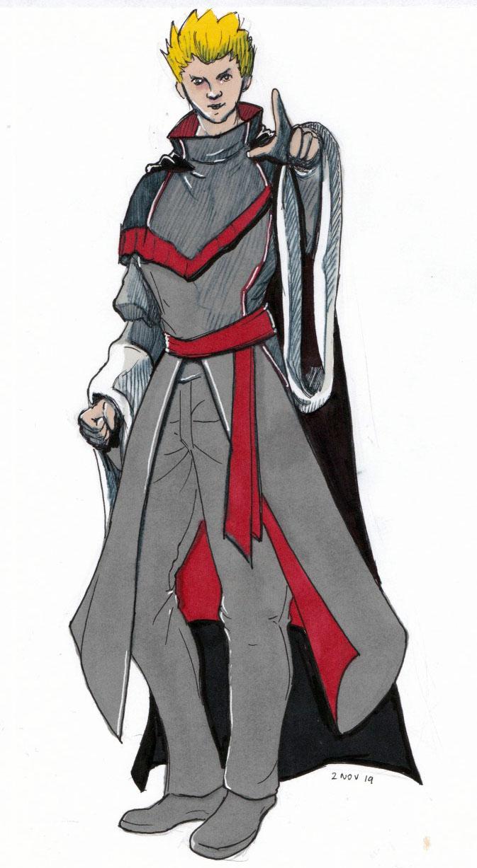 Inktober 2019 - Day 31, Anime Guy