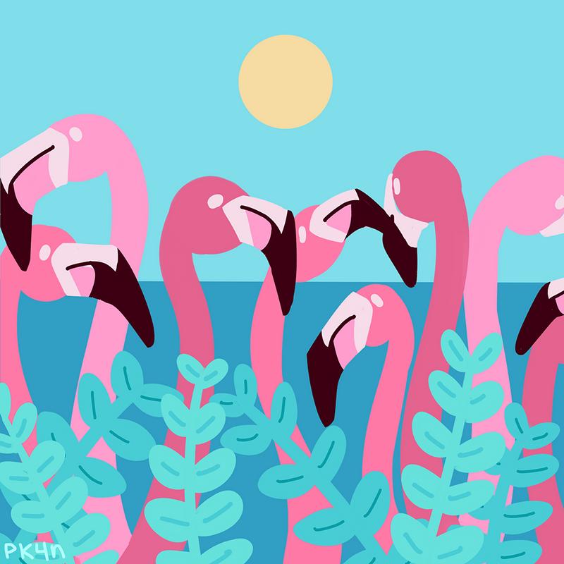 Flamingoes by pk4n