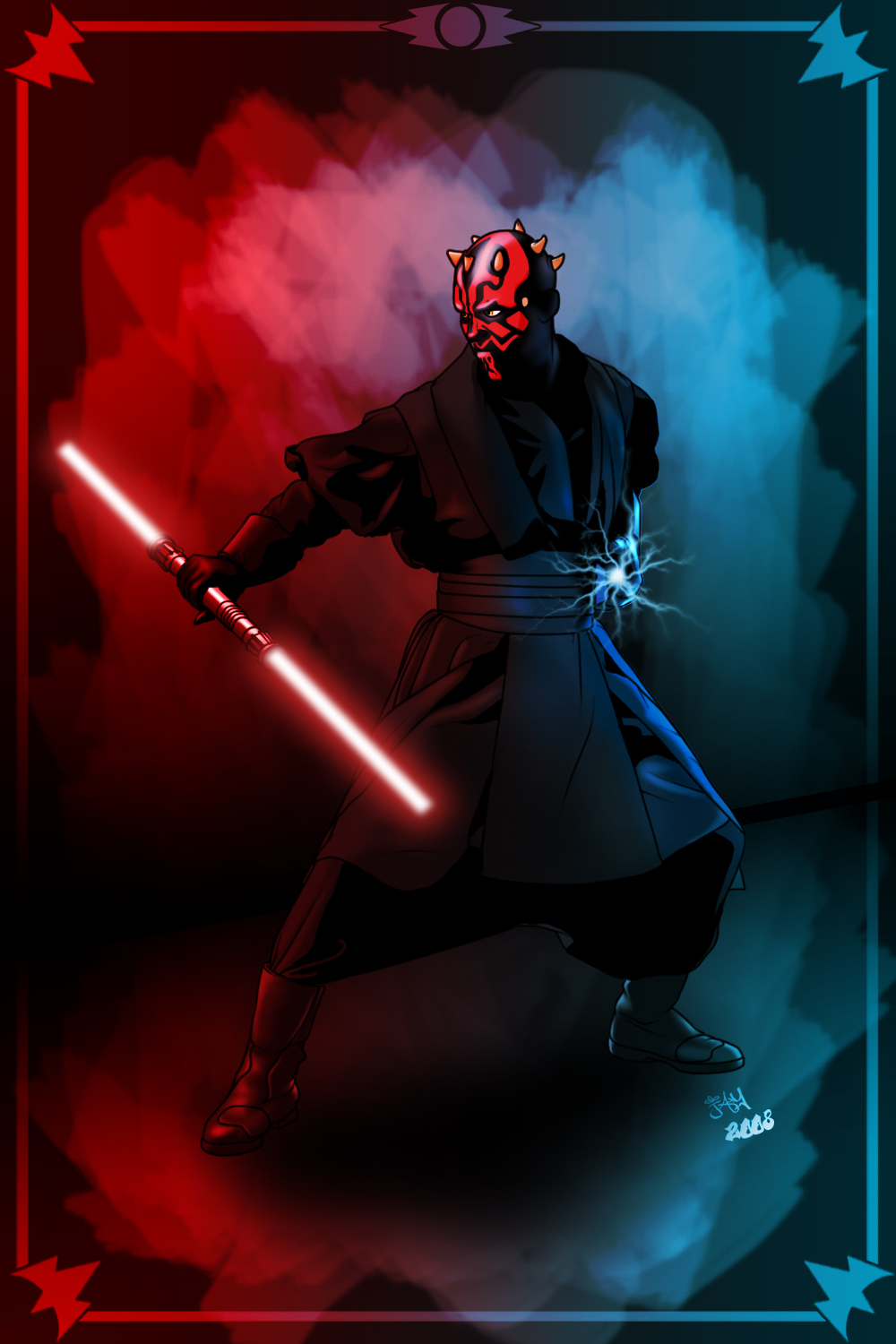 Lipstick face demon darth maul