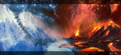 Fire Vs Ice by jaymahjad