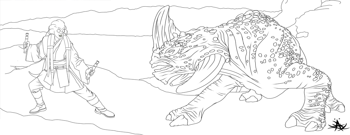 Star Wars Kit Fisto Coloring Pages Pictures to Pin on ...