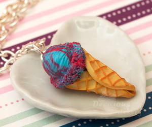 Cotton Candy Ice Cream Necklace