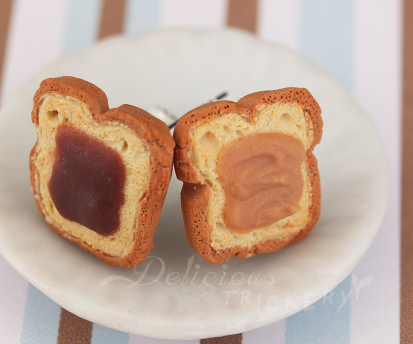 Peanut Butter and Nutella Earrings by DeliciousTrickery